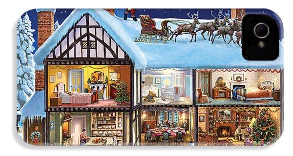 Christmas House IPhone 4 Case by Steve Crisp