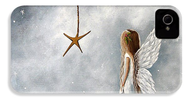 The Christmas Star Original Artwork IPhone 4 Case by Shawna Erback