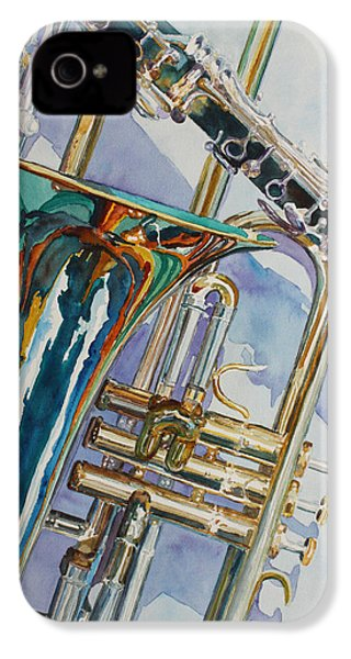The Color Of Music IPhone 4 Case by Jenny Armitage