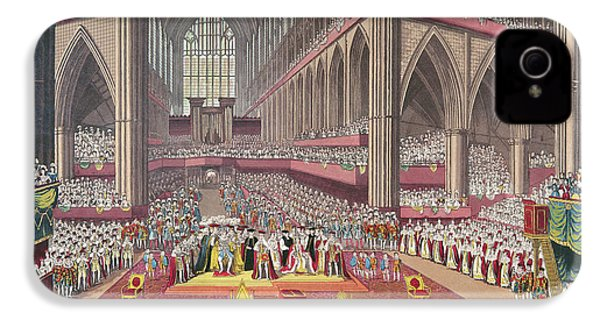 The Coronation Of King William Iv And Queen Adelaide, 1831 Colour Litho IPhone 4 Case by English School