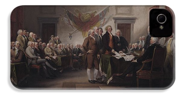 The Declaration Of Independence, July 4, 1776 IPhone 4 Case by John Trumbull