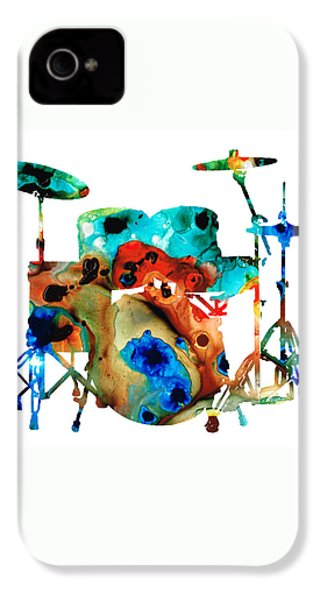 The Drums - Music Art By Sharon Cummings IPhone 4 / 4s Case by Sharon Cummings