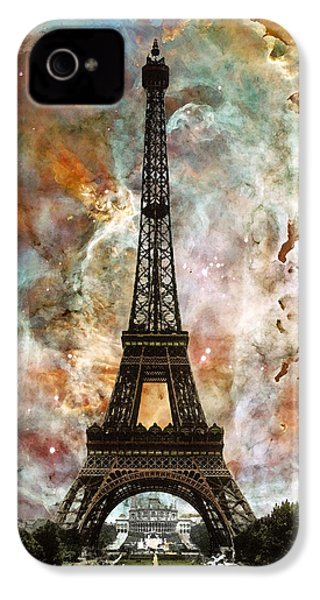 The Eiffel Tower - Paris France Art By Sharon Cummings IPhone 4 Case by Sharon Cummings
