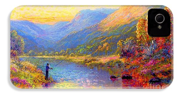 Fishing And Dreaming IPhone 4 Case by Jane Small