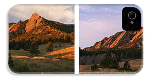 The Flatirons - Four Seasons Panorama IPhone 4 Case by Aaron Spong