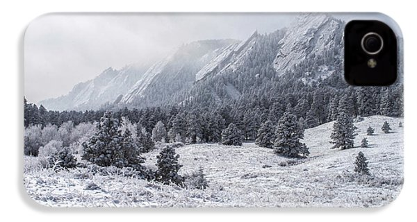 The Flatirons - Winter IPhone 4 Case by Aaron Spong
