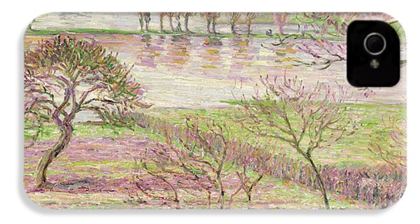 The Flood At Eragny IPhone 4 Case by Camille Pissarro