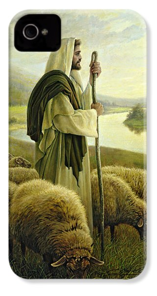 The Good Shepherd IPhone 4 Case by Greg Olsen