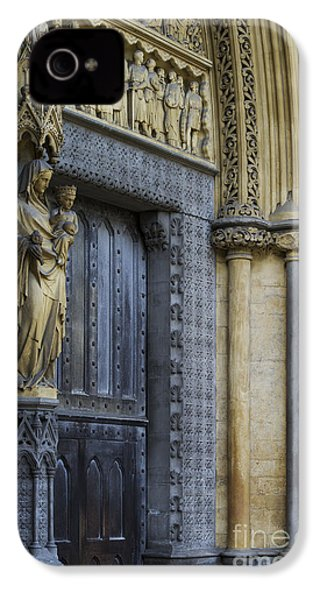 The Great Door Westminster Abbey London IPhone 4 Case by Tim Gainey