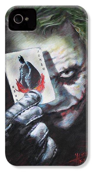 The Joker Heath Ledger  IPhone 4 Case by Viola El
