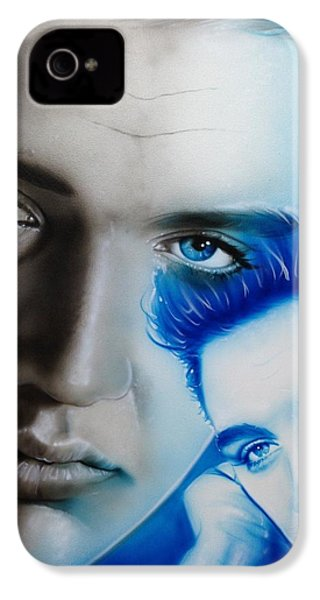 Elvis Presley - ' The King ' IPhone 4 Case by Christian Chapman Art