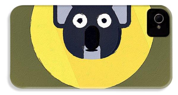 The Koala Cute Portrait IPhone 4 / 4s Case by Florian Rodarte