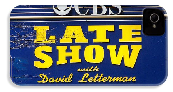 The Late Show With David Letterman IPhone 4 Case by Kenneth Summers