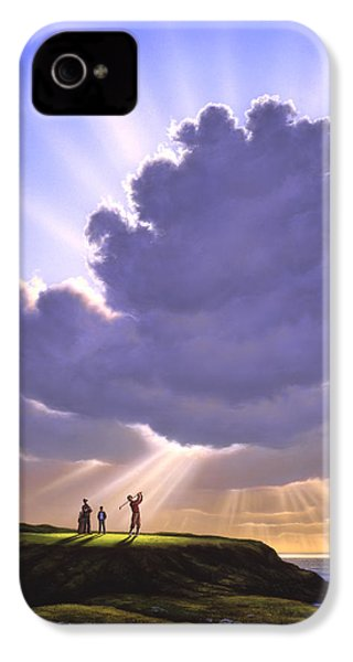 The Legend Of Bagger Vance IPhone 4 / 4s Case by Jerry LoFaro