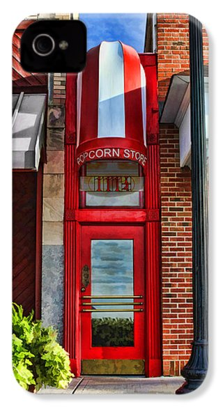 The Little Popcorn Shop In Wheaton IPhone 4 Case by Christopher Arndt