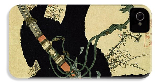 The Little Raven With The Minamoto Clan Sword IPhone 4 / 4s Case by Katsushika Hokusai