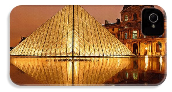 The Louvre By Night IPhone 4 Case by Ayse Deniz