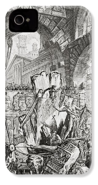 The Man On The Rack Plate II From Carceri D'invenzione IPhone 4 / 4s Case by Giovanni Battista Piranesi