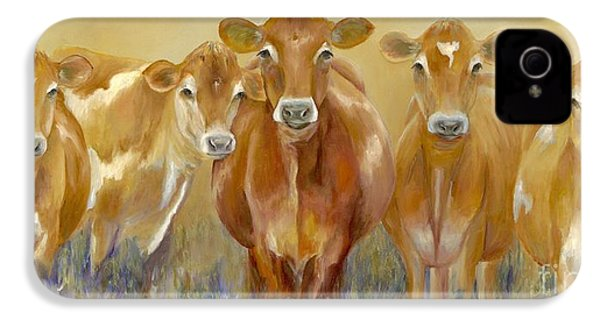 The Morning Moo IPhone 4 Case by Catherine Davis