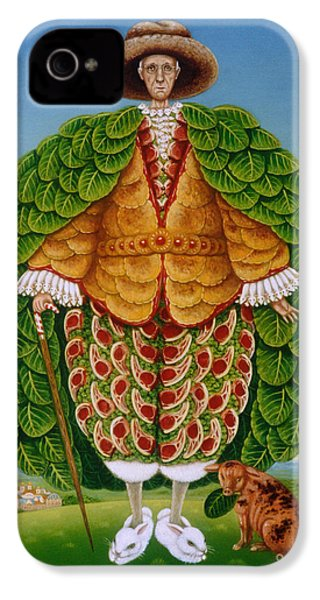 The New Vestments Ivor Cutler As Character In Edward Lear Poem, 1994 Oils And Tempera On Panel IPhone 4 / 4s Case by Frances Broomfield