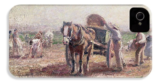 The Potato Pickers IPhone 4 Case by Harry Fidler