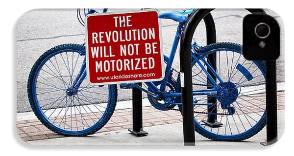 The Revolution Will Not Be Motorized IPhone 4 / 4s Case by Rona Black