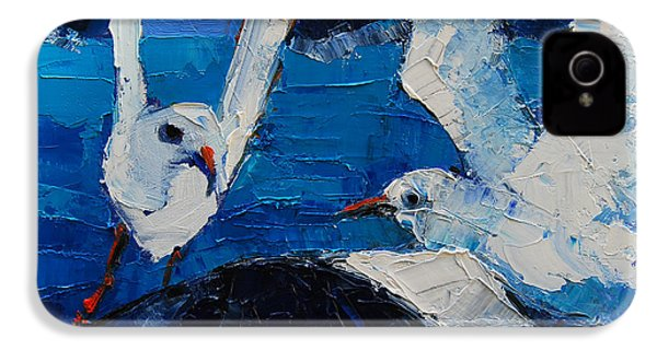 The Seagulls IPhone 4 Case by Mona Edulesco