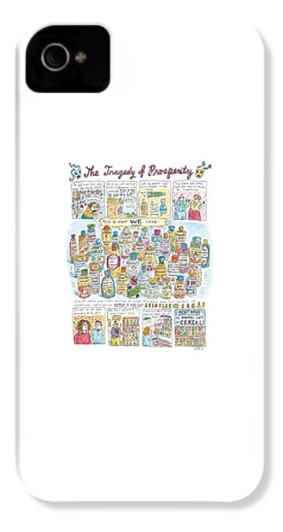 'the Tragedy Of Prosperity' IPhone 4 Case by Roz Chast