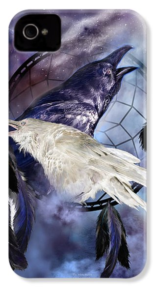 The White Raven IPhone 4 Case by Carol Cavalaris