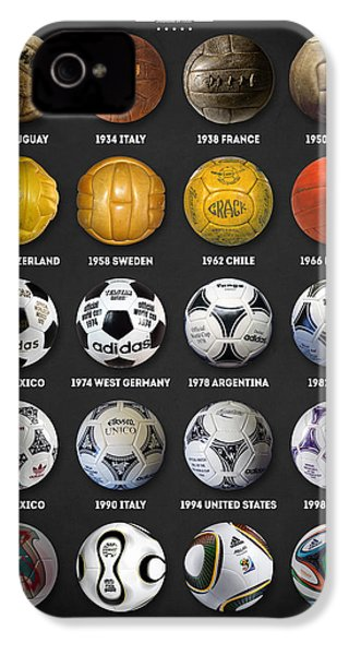The World Cup Balls IPhone 4 Case by Taylan Apukovska