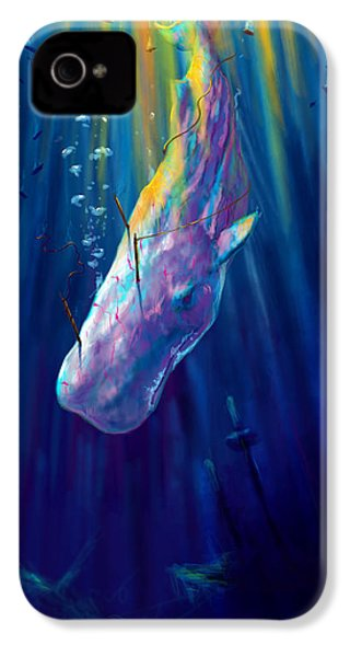Thew White Whale IPhone 4 Case by Yusniel Santos