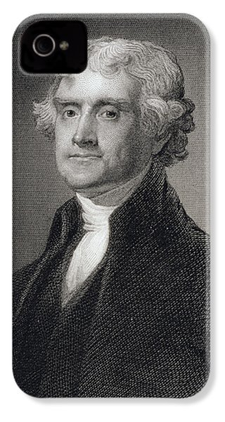 Thomas Jefferson IPhone 4 Case by Gilbert Stuart