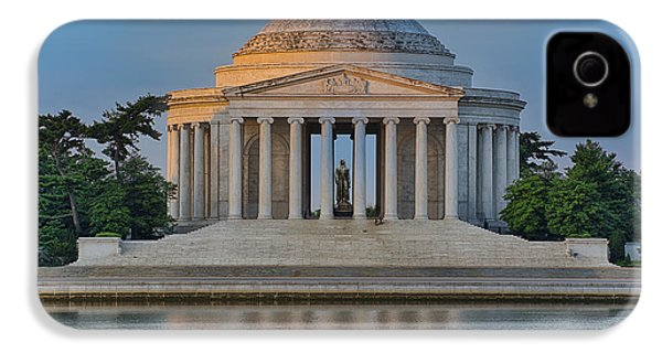 IPhone 4 Case featuring the photograph Thomas Jefferson Memorial At Sunrise by Sebastian Musial