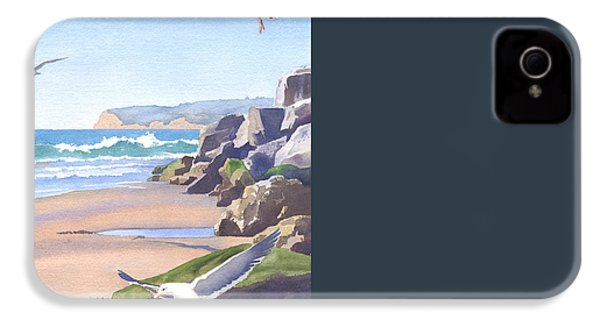 Three Seagulls At Coronado Beach IPhone 4 / 4s Case by Mary Helmreich