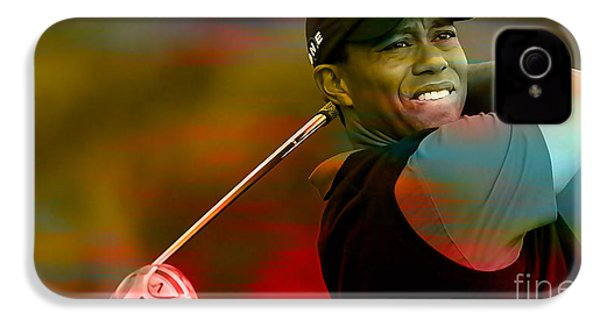 Tiger Woods IPhone 4 / 4s Case by Marvin Blaine