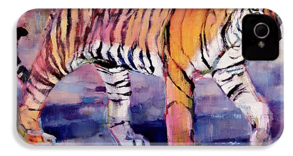 Tigress, Khana, India IPhone 4 Case by Mark Adlington