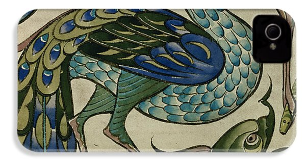 Tile Design Of Heron And Fish IPhone 4 / 4s Case by Walter Crane