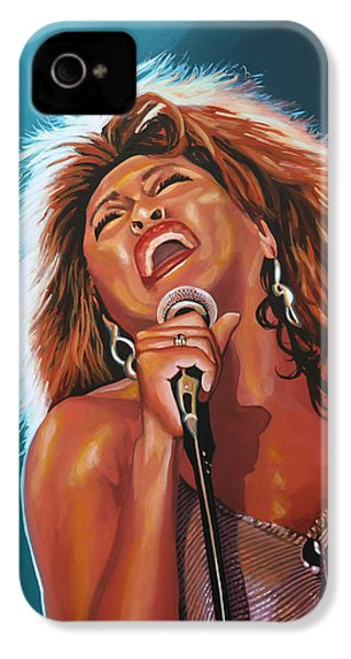 Tina Turner 3 IPhone 4 Case by Paul Meijering