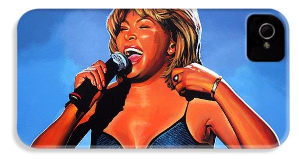 Tina Turner Queen Of Rock IPhone 4 Case by Paul Meijering