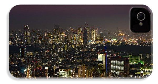 Tokyo City Skyline IPhone 4 / 4s Case by Fototrav Print