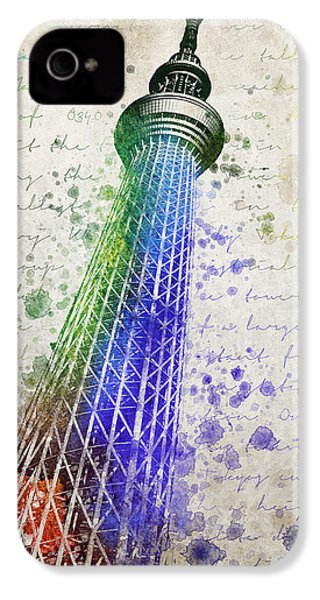 Tokyo Skytree IPhone 4 Case by Aged Pixel
