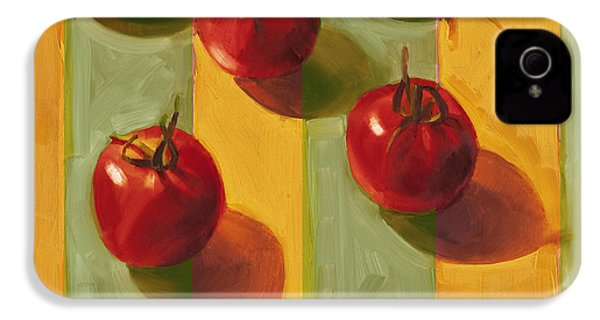 Tomatoes IPhone 4 Case by Cathy Locke