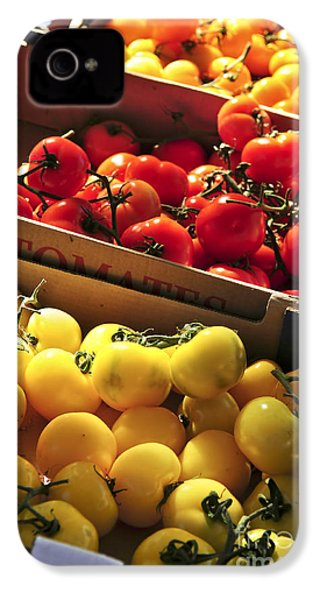Tomatoes On The Market IPhone 4 Case by Elena Elisseeva