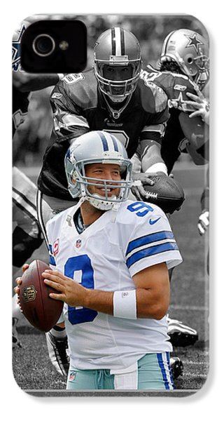 Tony Romo Cowboys IPhone 4 Case by Joe Hamilton