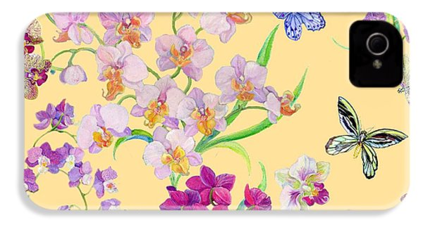 Tossed Orchids IPhone 4 / 4s Case by Kimberly McSparran