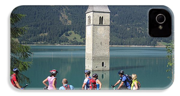 IPhone 4 / 4s Case featuring the photograph Tower In The Lake by Travel Pics