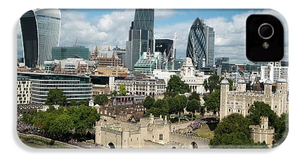 Tower Of London And City Skyscrapers IPhone 4 / 4s Case by Mark Thomas