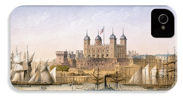 Tower Of London, 1862 IPhone 4 / 4s Case by Achille-Louis Martinet