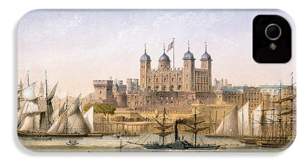 Tower Of London, 1862 IPhone 4 Case by Achille-Louis Martinet