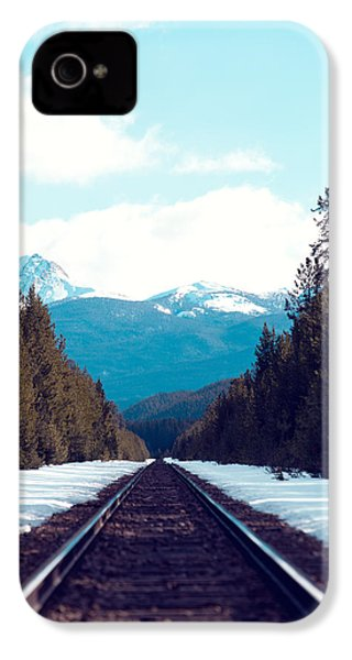 Train To Mountains IPhone 4 Case by Kim Fearheiley